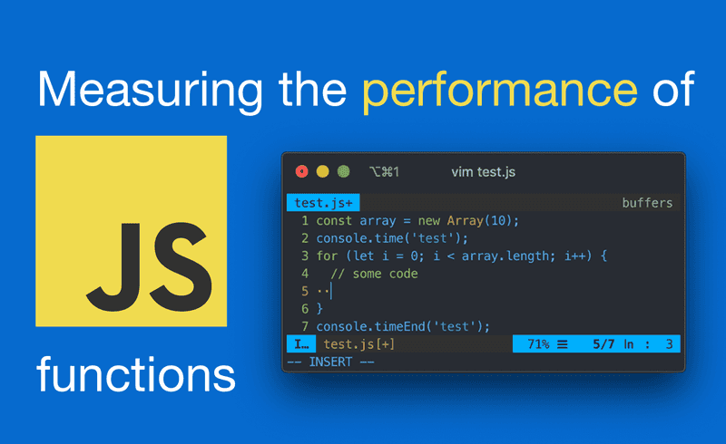 Measuring the performance of JavaScript functions - Thumbnail